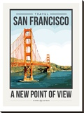 Travel Poster San Francisco Stretched Canvas Print by Brooke Witt