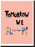 Tomorrow We Sleep Stretched Canvas Print by Ashlee Rae