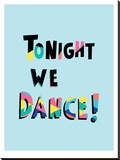 Tonight We Dance Stretched Canvas Print by Ashlee Rae