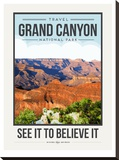 Travel Poster Grand Canyon Stretched Canvas Print by Brooke Witt