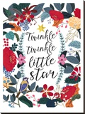 Twinkle Twinkle Stretched Canvas Print by Mia Charro