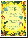 Your Mind Is A Garden Stretched Canvas Print by Mia Charro