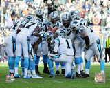 Carolina Panthers Huddle 2015 NFC Divisional Playoff Game Photo