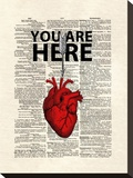 You Are Here Stretched Canvas Print by Matt Dinniman