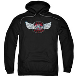 Hoodie: Reo Speedwagon- Chrome Wings Logo Pullover Hoodie