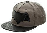 Batman vs. Superman- Black Bat Logo Snapback Hat
