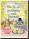 When Live Gives You Lemons Stretched Canvas Print by Mia Charro