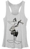 Juniors Tank Top: Looney Tunes- Big City Daffy T-paita