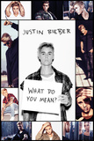 Justin Bieber- What Do You Mean Collage - Poster