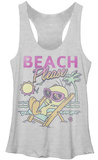 Juniors Tank Top: Looney Tunes- Beach Tweet T-Shirt