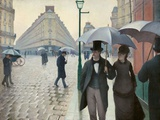 Paris Street in Rainy Weather (Paris, Rainy Day) by Gustave Caillebotte Giclee Print