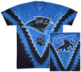 Carolina Panthers- Logo V-Dye (Front/Back) T-Shirt