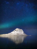 Aurora Borealis or Northern Lights in Iceland Photographic Print by  Arctic-Images