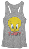 Juniors Tank Top: Looney Tunes- Tweety Head T-paita