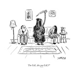 """I'm O.K. Are you O.K.?"" - New Yorker Cartoon Premium Giclee Print by David Sipress"