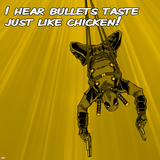 Deadpool - I Hear Bullets Taste like Chicken! Wall Mural