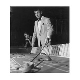 Man in One-Button Pinstripe Jacket Works a Table at a Casino Regular Giclee Print