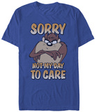 Looney Tunes- Taz Don'T Care Camisetas