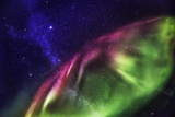Aurora Borealis with the Milky Way Galaxy. Photographic Print by  Arctic-Images