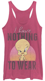 Juniors Tank Top: Looney Tunes- Nothing To Wear T-Shirt