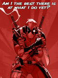 Deadpool - Am I the Best There is at What I Do Yet Signe en plastique rigide
