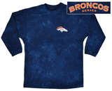 Long Sleeve: Broncos- Gridiron (Front/Back) T-Shirt