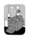 Stairway to Henry -- a Man sitting in a sofa chair has a body comprised, f... - New Yorker Cartoon Premium Giclee Print by J.C. Duffy