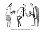 """Check it out, guys—finally got my wine legs!"" - New Yorker Cartoon Premium Giclee Print by Tom Chitty"