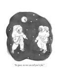 """In space, no one can tell you're fat."" - New Yorker Cartoon Premium Giclee Print by Emily Flake"