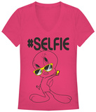 Juniors: Looney Tunes- Selfie Tweet T-Shirts