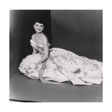 Audrey Hepburn, Age 22, Wearing Gown of Bianchini Silk Taffeta by Adrian Regular Giclee Print by Richard Rutledge