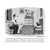 """And this little piggy said, 'Putting aside the fact that we are domestica..."" - New Yorker Cartoon Premium Giclee Print by Joe Dator"