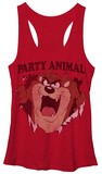 Juniors Tank Top: Looney Tunes- Taz Total Party T-shirts