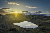 Sunset over Lava and Moss Landscape, Svinafellsjokull Glacier, Iceland Photographic Print by  Arctic-Images