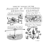 A Display of Discarded Exercise Equipment like the Three-in-one Neck, Scal... - New Yorker Cartoon Premium Giclee Print by Roz Chast