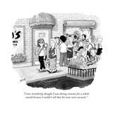 """I once mistakenly thought I was dating someone for a whole month because ..."" - New Yorker Cartoon Premium Giclee Print by Tom Toro"