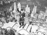Boy on Ledge Twirling a Lasso Photographic Print