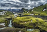 The Emstrua River, Thorsmork, Iceland Photographic Print by  Arctic-Images