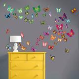 Flat and 3D Butterfly Collection - Duvar Çıkartması
