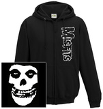 Zip Hoodie: The Misfits- Classic Fiend Skull (Front/Back) Mikina na zip s kapucí