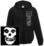 Zip Hoodie: The Misfits- Classic Fiend Skull (Front/Back) Felpa con cappuccio con chiusura a zip
