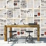 Vintage Newspaper - 27 Piece Wallpaper Collage - Duvar Resimleri