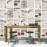 Vintage Newspaper - 27 Piece Wallpaper Collage Carta da parati decorativa