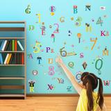 Alphabet and Numbers - Duvar Çıkartması