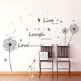 Live Laugh Love Dandelions - Duvar Çıkartması