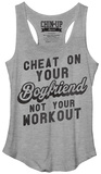 Juniors Tank Top: Don't Cheat The Gym Womens Tank Tops
