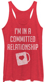 Juniors Tank Top: Committed To Coffee Womens Tank Tops