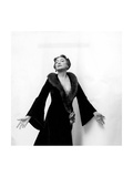 Katharine Cornell, Actress, Wearing Black Gown with Fur Collar Designed by Cecil Beaton Giclee Print by Cecil Beaton