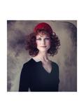 Model, Pat Dow Wearing a Juliano Knits Two Piece Dress Regular Giclee Print by Gianni Penati