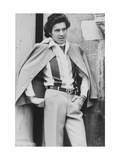 Male Model Wearing Silk Shirt and Wool Crepe Trousers Regular Giclee Print by Henry Clarke